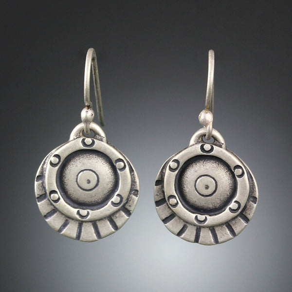 Etruscan Shield Earrings