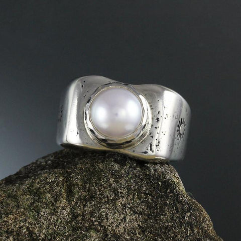 Sterling Silver Eileen Pearl Ring