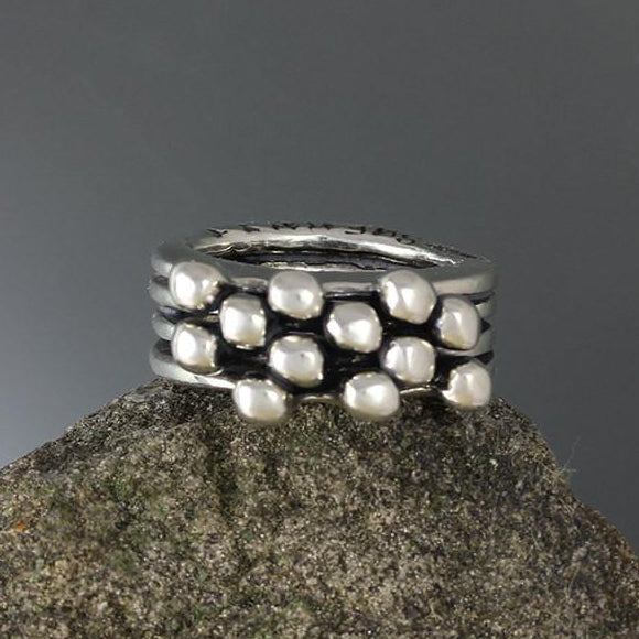 Sterling Silver Four Band Blanche Ring