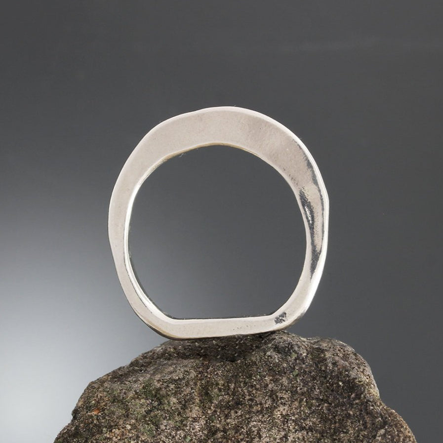 Sterling Silver Thin Flare Ring