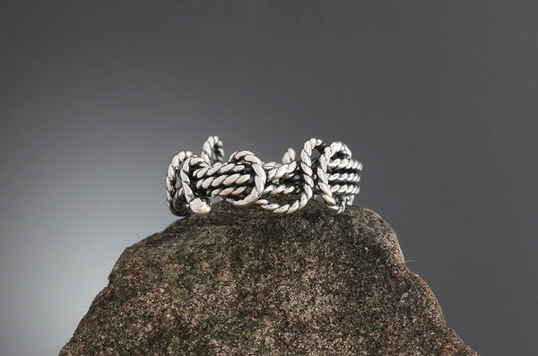 Sterling Silver Textured Wrapped Vine Ring