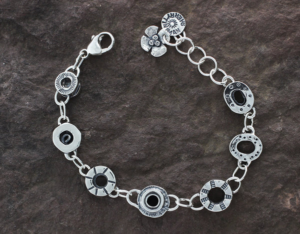 Sterling Silver Substantial Element Bracelet