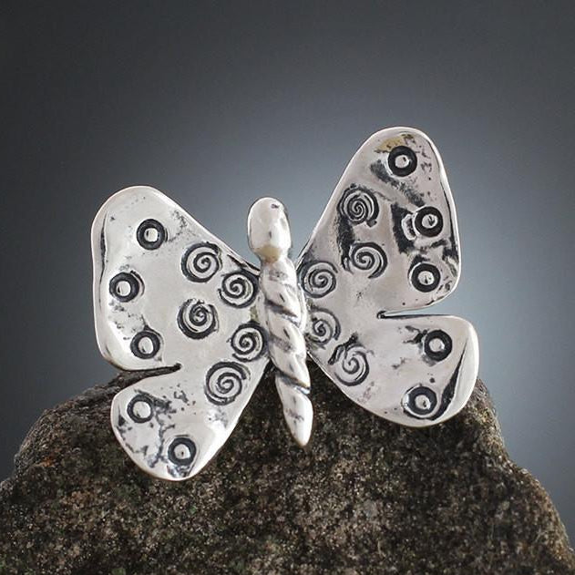 Sterling Silver Butterfly Scatter Pin