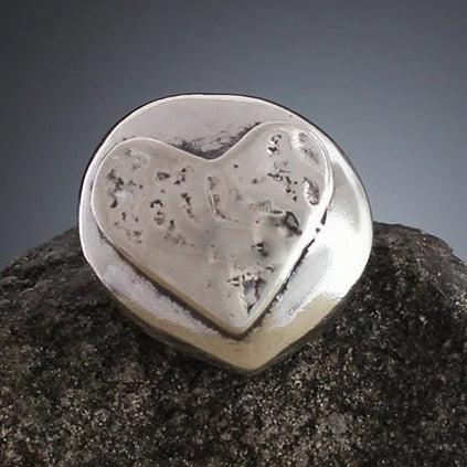 Sterling Silver Rounded Heart Scatter Pin