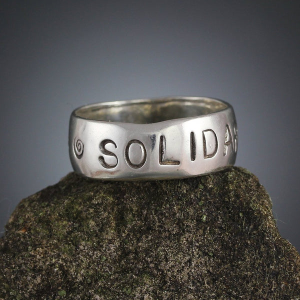 Sterling Silver Solidarity Stamped Ring