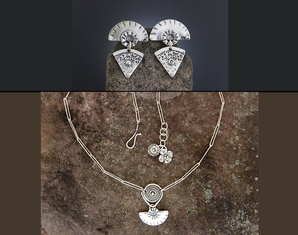 Sterling Silver Geometric Jewelry Set