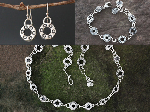 Sterling Silver Substantial Element Jewelry Set