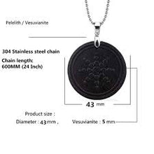 Round Radiation Protection Quantum Energy Pendant Necklace