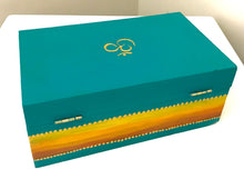Om Teal Light Wooden Box