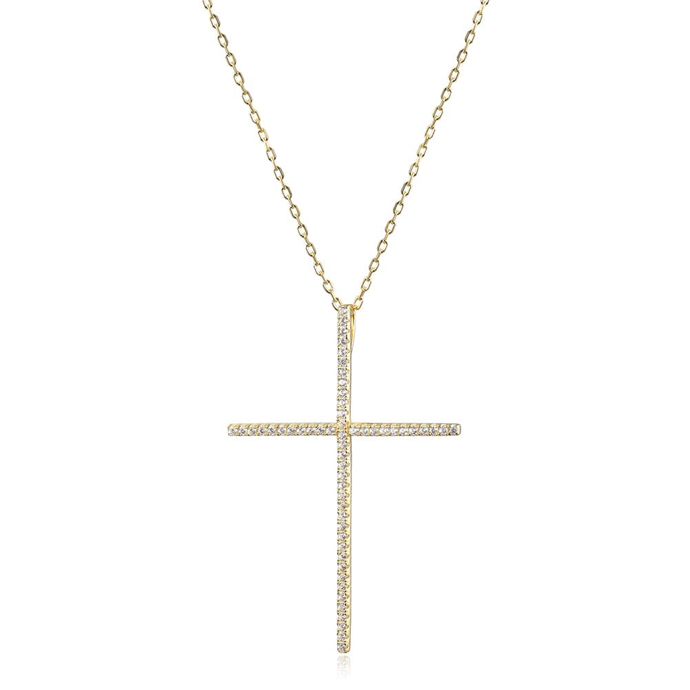 Big Cross Pave Necklace