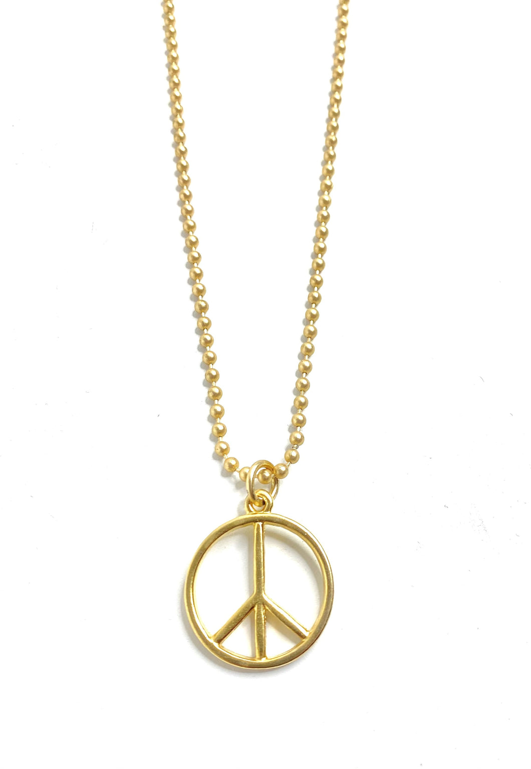 Peace Sign Ball Chain Necklace