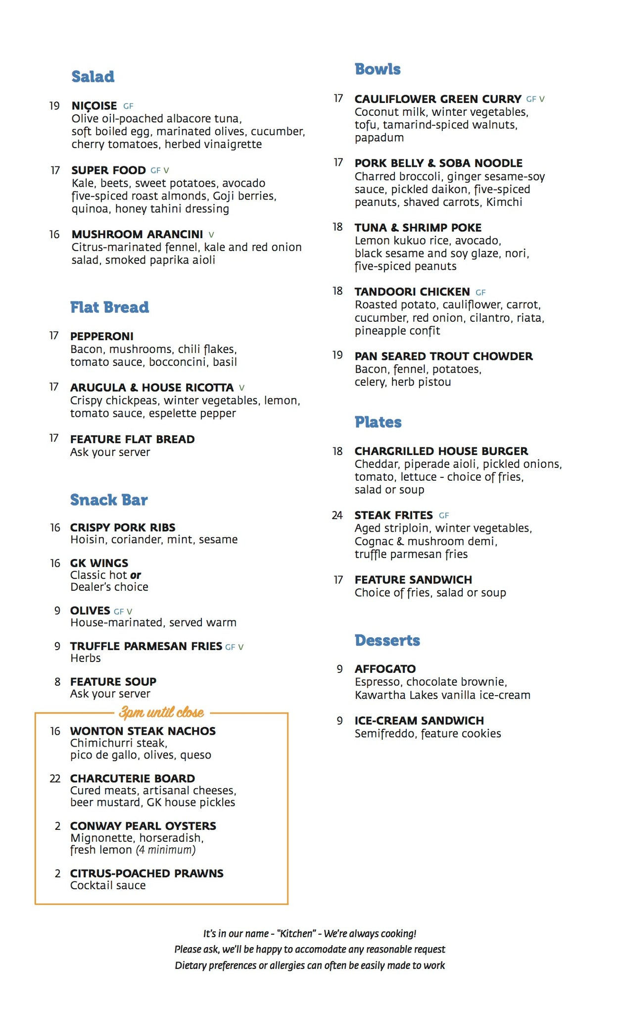 Grounded Menu