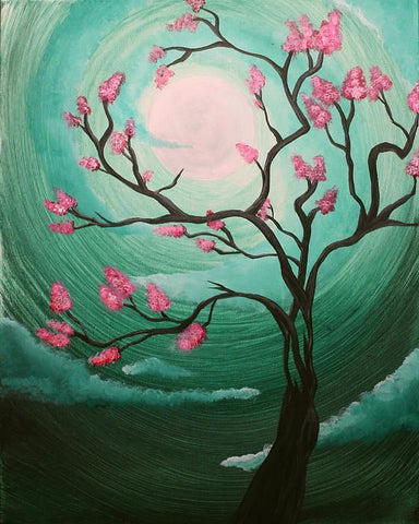 "$20 Tuesday, May 22 ""Feng Shui Blossoms"" 12x16 6:30"