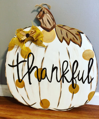 Sunday, Oct. 8 2:00 Wooden Pumpkin Creation Paint Only