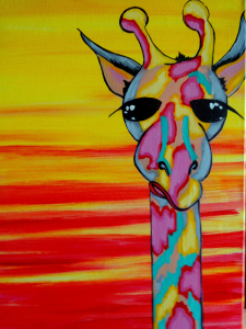 "Tuesday, Feb 6 ""Geoffery Giraffe"" 12x16 6:30"