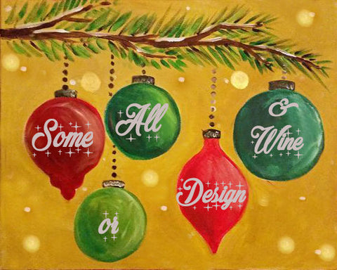 "Mon, December 3  ""Personalized Ornaments"" Inspiration Picture 6:30"