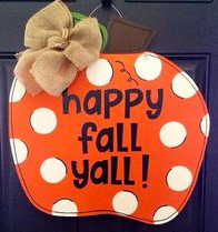 Sunday, Oct. 8  2:00 or 5:00 Wooden Pumpkin Creation Paint Ribbon and Vinyl Slogan