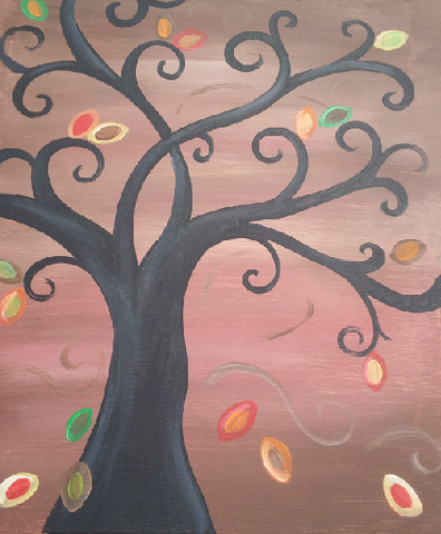 "Saturday, November 18, 7:00 p ""Leaves and Curls"" 16x20"