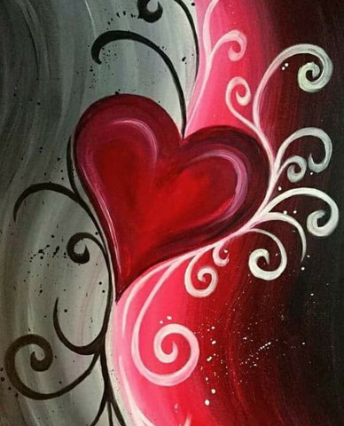 Feb 11, Split heart ADULT&CHILD Partner Painting 3:30pm