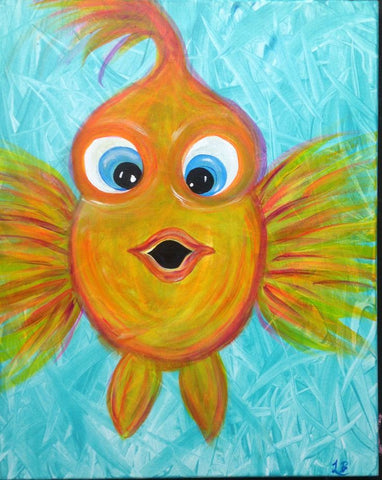 "Wednesday, July 26, 1:30 "" Bubble Fish"" 12x12 Kids"