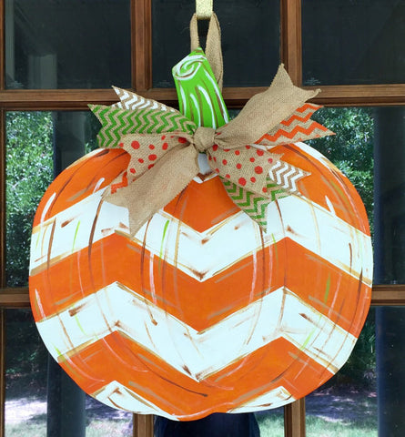 Sunday, Oct. 8  2:00  or 5:00 Wooden Pumpkin Creation Paint and Ribbon Only