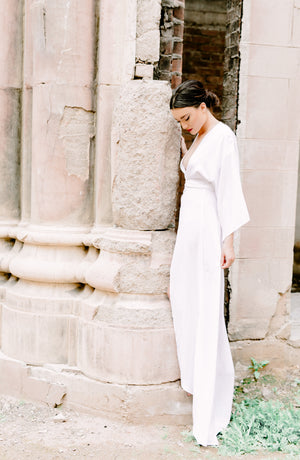 Victoria Bridal Robe Gown in Snow