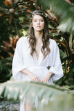 Maeve Double Side Slit Robe- {domenica_domenica], [bridal robes]