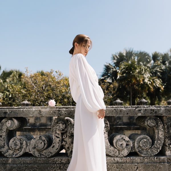 Annabella Bridal Robe in Off White- {domenica_domenica], [bridal robes]