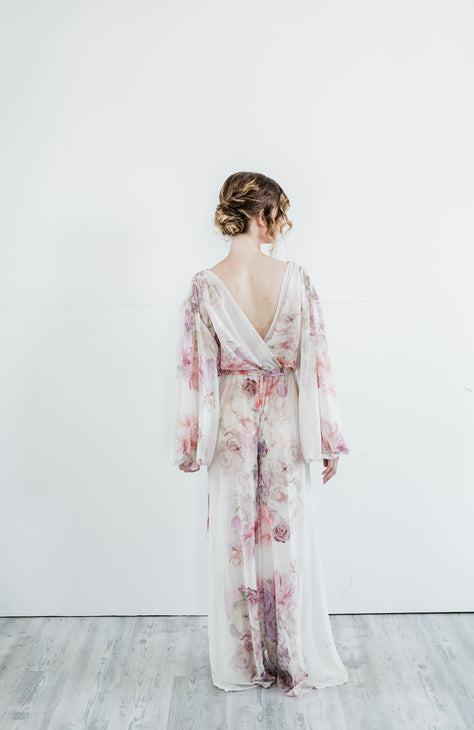 The Aster Pantsuit- {domenica_domenica], [bridal robes]