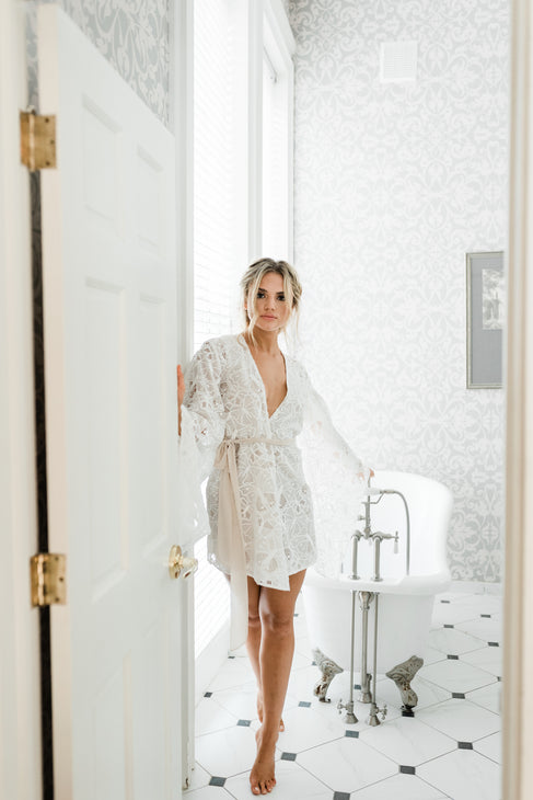 The Cassia Classic Robe, Laser Cut Butterfly