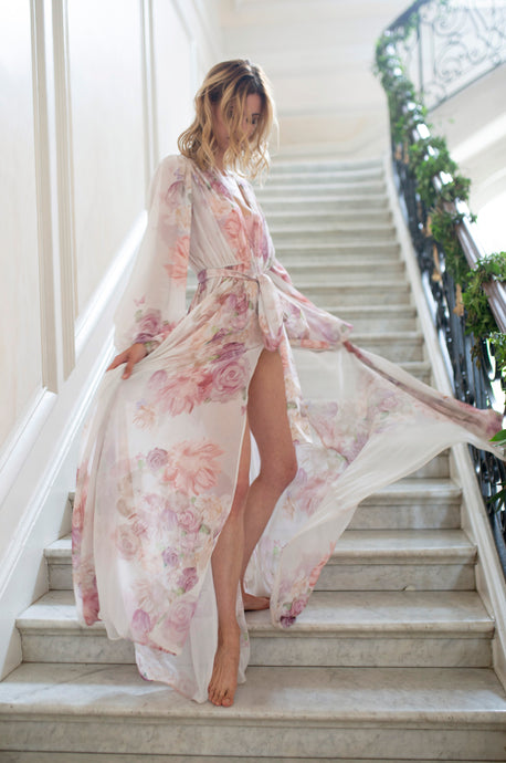 Annabella Bridal Robe in Garden