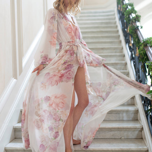 Annabella Bridal Robe in Garden- {domenica_domenica], [bridal robes]