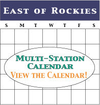 East of Rockies Calendar