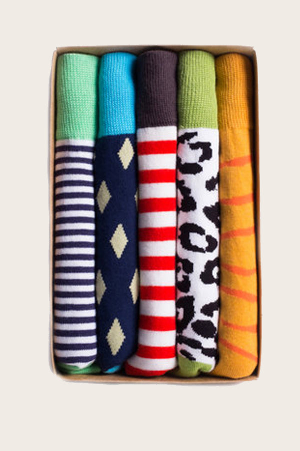 Printed Sock 5- Pack Bold Assortment