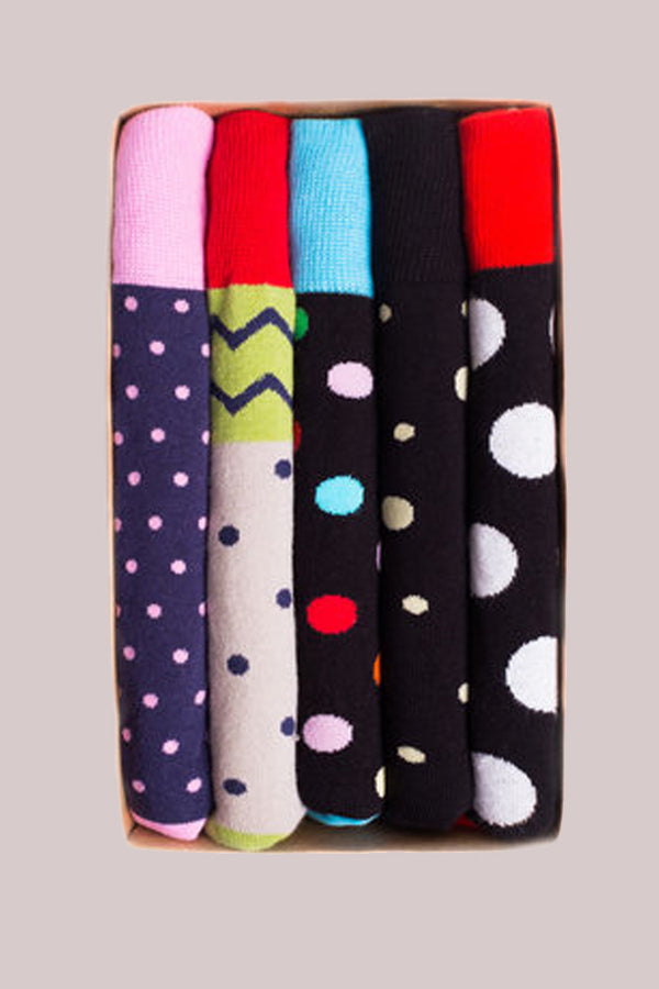 Printed Socks 5-Pack Colorful Assortment