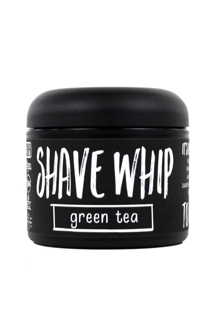 All natural shave cream for men and women. A moisturizing blend of avocado and coconut oils fragranced with green tea, grapefruit, and Oak Moss. All natural and chemical free. Vegan, organic and Fair Trade.