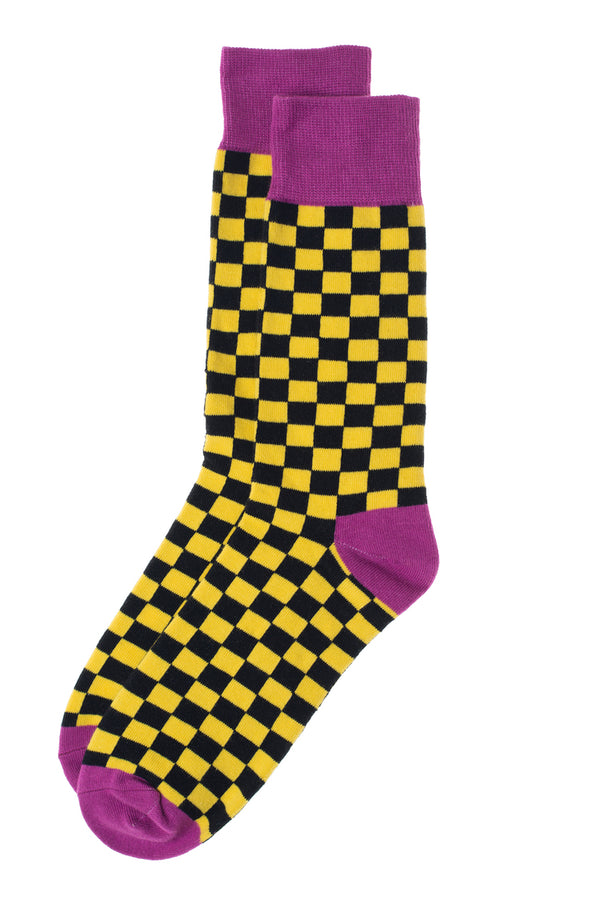 Checks Print Socks