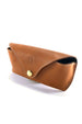 Handmade genuine leather sunglasses case. Crafted from vegetable dyed leather and available in either black or brown leather.
