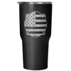 Maltese Cross with American Flag - 30 Ounce Vacuum Tumbler