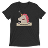 ETHEREUM HAPPY UNICORN Tri-blend T-shirt