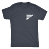 Ethereum Pocket Retro (white ink) Tri-blend T-shirt
