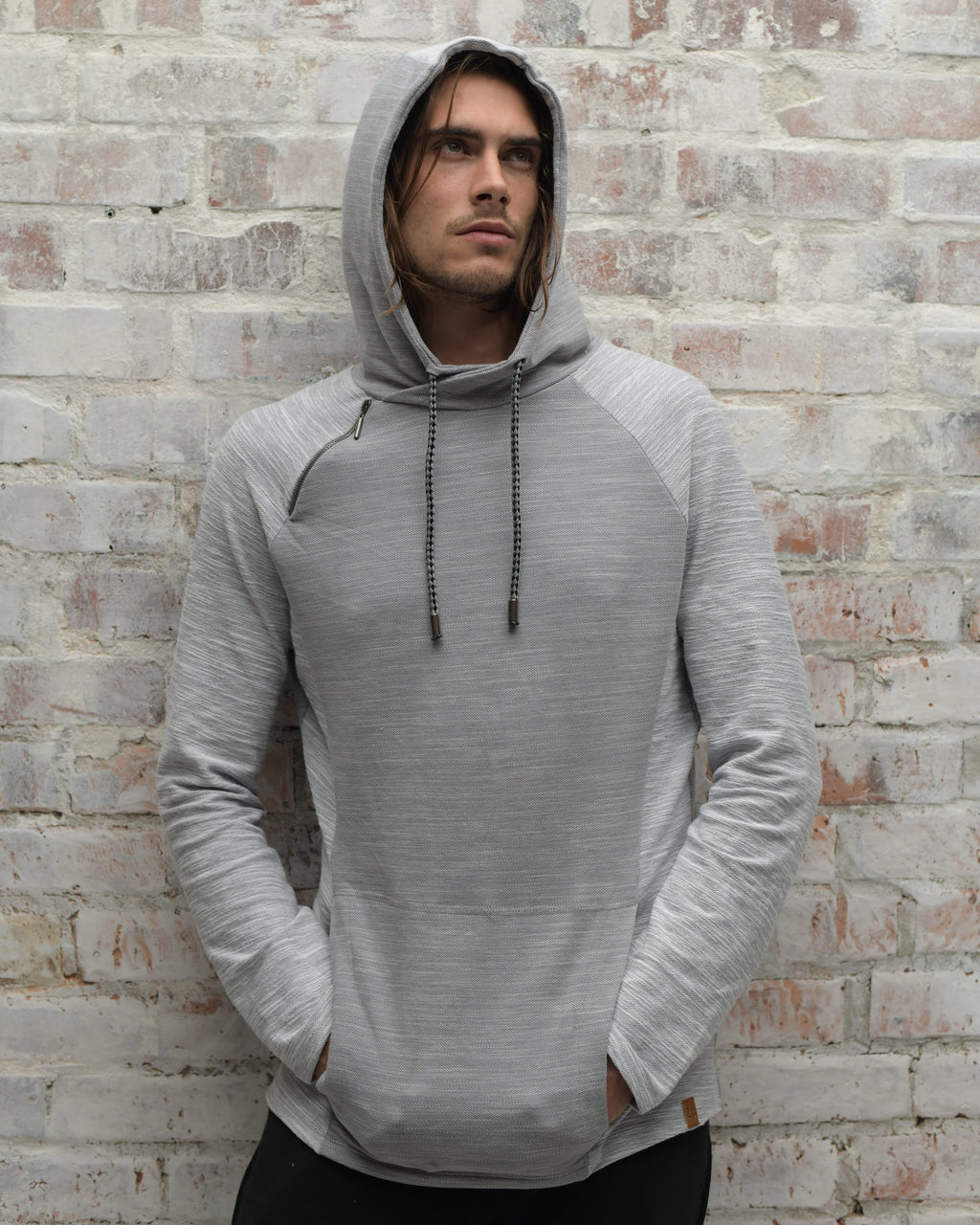 ZG5104 Colourblock Hoody Greys