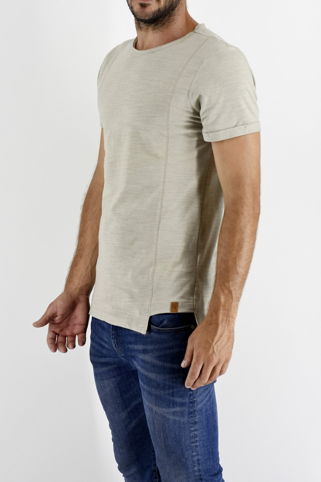 STONE STEP HEM ZEITGEIST T SHIRT ZG5168 side view
