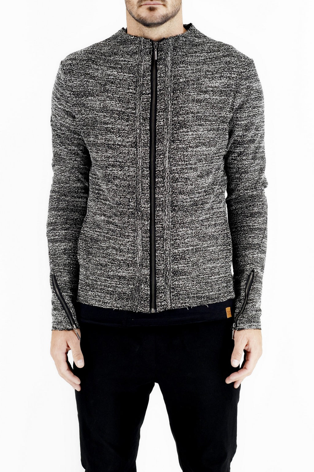 Casual Active Zip Jacket in Boucle ZG5191