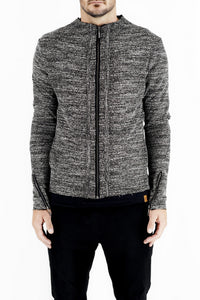 Mens Zip Jacket in Marl Boucle made by Zeitgeist
