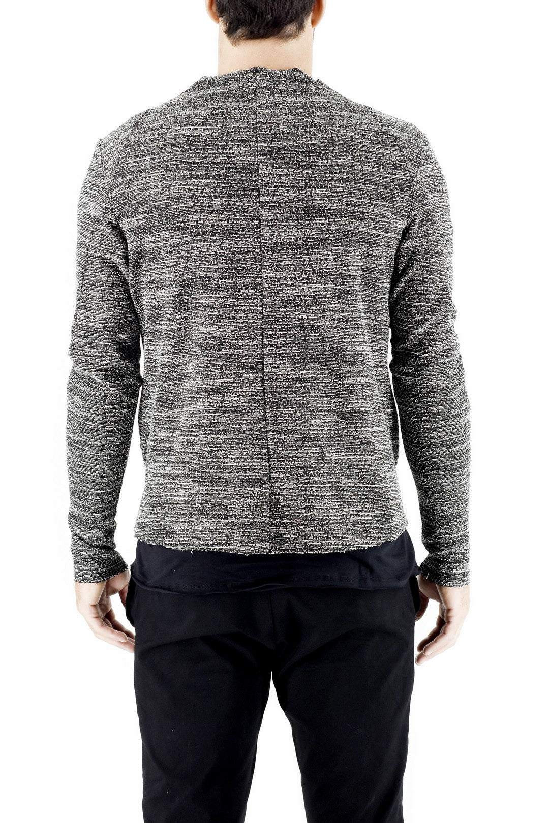 Mens Casual Active Zip Jacket in Marl Boucle  ZG5191