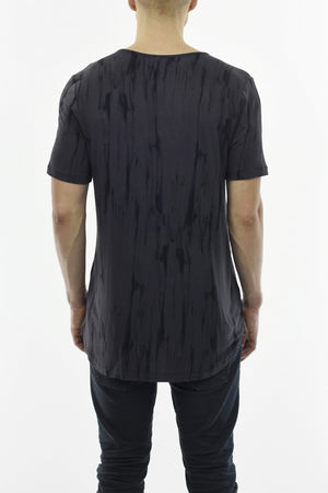 Mens Charcoal/Black Tie dye Summer T ZG5231