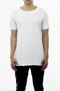 Mens White Summer T with Neck Inset Detail ZG5234