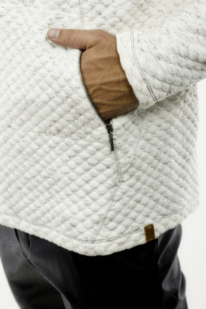 Mens Popcorn Texture Hoody with Zip Pockets ZG5260