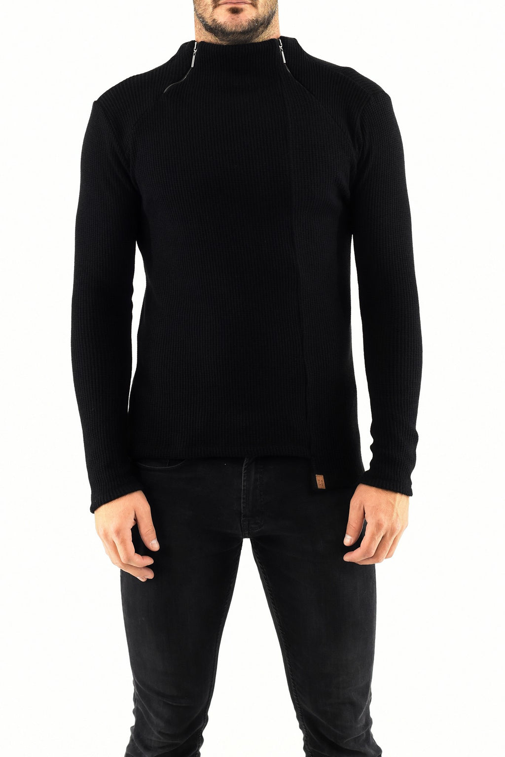 Mens Double Zip Poloneck Sweater ZG5267